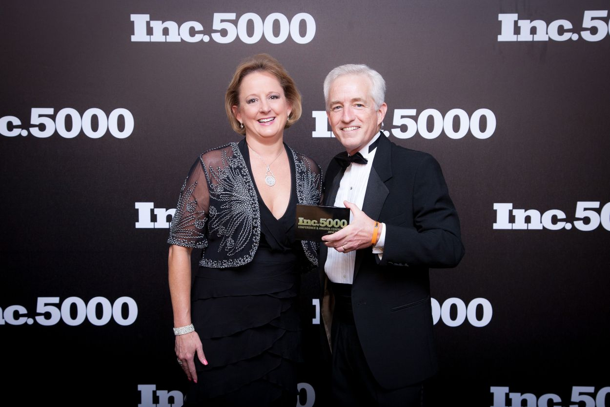 Lucie Voves with Eric Schurenberg, President and Editor In Chief of Inc. magazine
