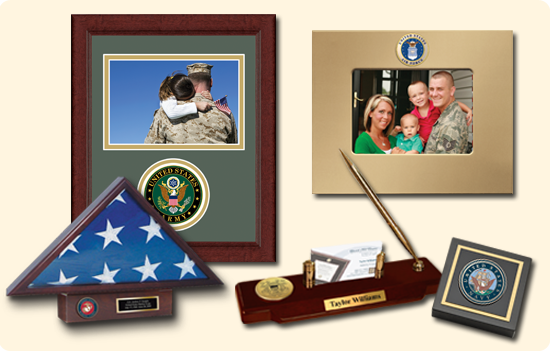 United States Military Desk Items and Photo Frames