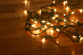 Decorating dorm room with Christmas lights