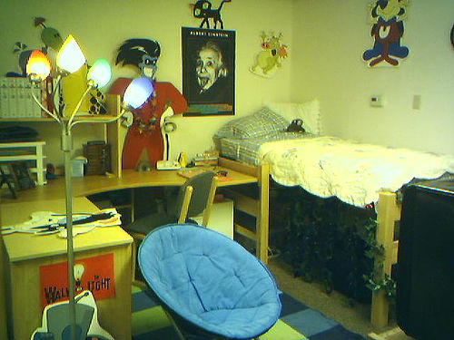Artistically decorated dorm room