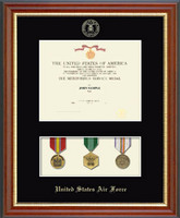 Air Force Medal Display & Certificate Frame