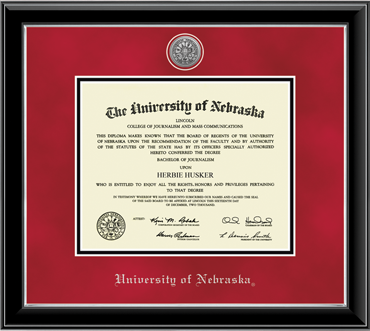 University of Nebraska Diploma Frame