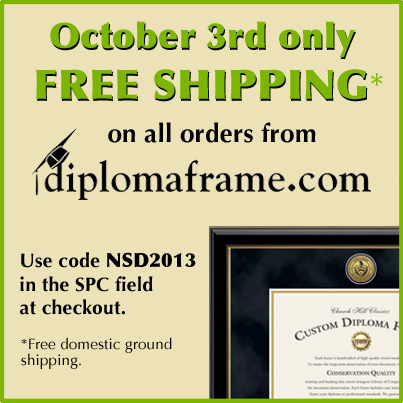 National Student Day - Offer to all diplomaframe.com customers
