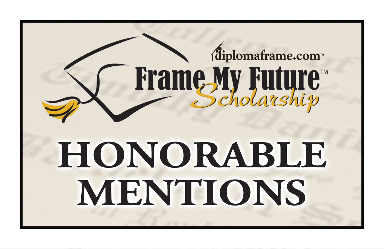 Frame My Future Scholarship Contest 2013 Honorable Mentions