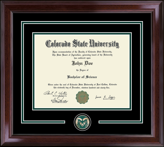 Colorado State University Spirit Medallion Diploma Frames