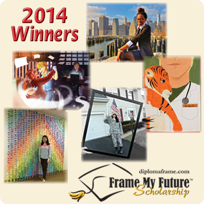 Frame My Future Scholarship Contest - Five Winners