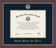 United States Air Force Masterpiece Medallion Certificate Frames