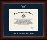 United States Air Force Silver Embossed Certificate Frame in Sutton with Navy Mat