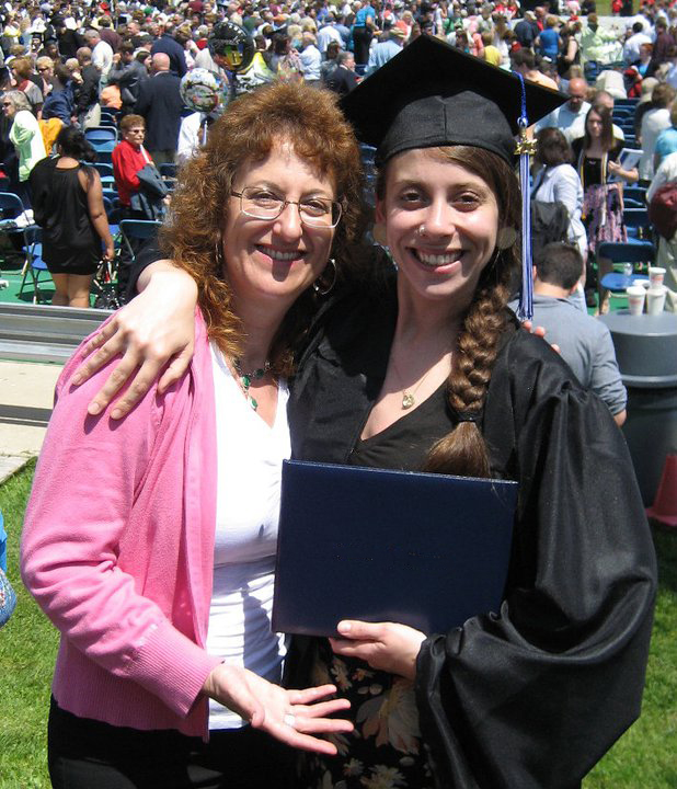 Graduate with mom