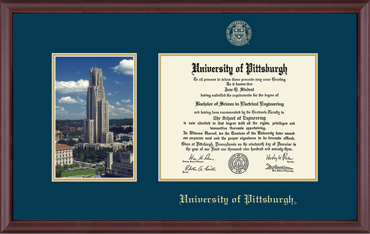 Campus Scene Edition University of Pittsburgh Diploma Frame