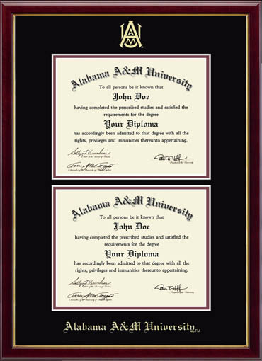 double diploma frame alabama am university