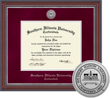 Engraved Medallion Southern Illinois University Diploma Frame