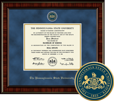 Heirloom Edition The Pennsylvania State University Diploma Frame