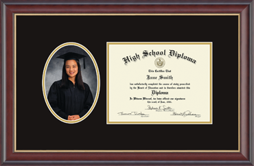high school diploma frame with graduation photo opening