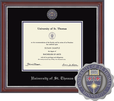 Masterpiece Medallion University of St. Thomas Diploma Frame