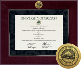 University of Oregon Millennium Diploma Frame