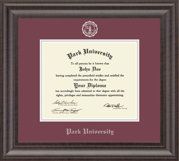 Recycled Wood Moulding Park University Diploma Frame