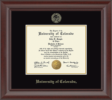 Recycled Wood Moulding University of Colorado Diploma Frame
