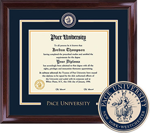 Pace University Showcase Diploma Frame