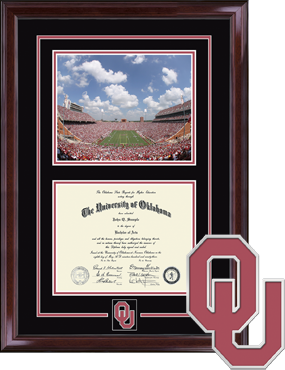 Spirit Medallion The University of Oklahoma Diploma Frame