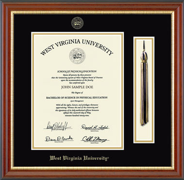 Tassel Diploma Frame - West Virginia University