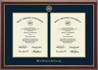 West Virginia University Double Diploma Frame