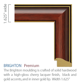 Brighton Moulding - High gloss cherry finish