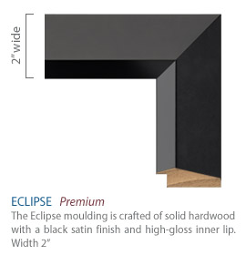 Eclipse Moulding - black satin finish with high-gloss inner lip