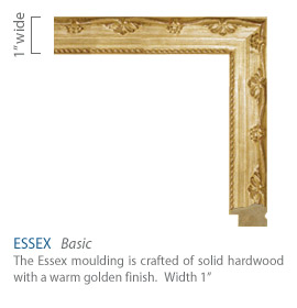 Essex Moulding - warm golden finish