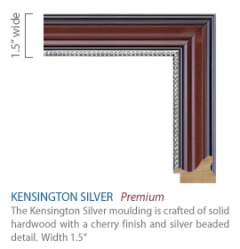 Kensington Silver Moulding - cherry satin finish with silver beaded detail