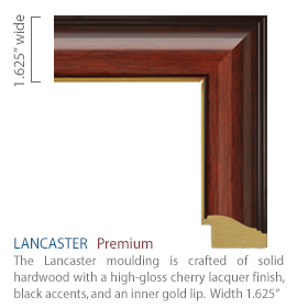 Lancaster moulding - high gloss cherry finish