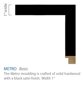Metro Moulding - solid wood with a black satin finish
