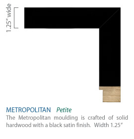 Metropolitan Moulding - Black satin finish