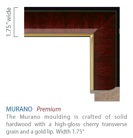 Murano - cherry finish and gold lip