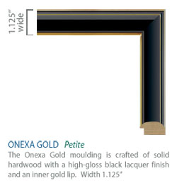 Onexa Gold Moulding - black high-gloss finish with sleek gold accents