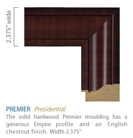 Premier Moulding - Generous empire profile with an English chestnut finish