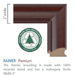 Rainier Moulding - mahogany finish