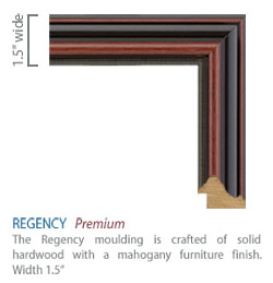 Regency Moulding - mahogany furniture finish