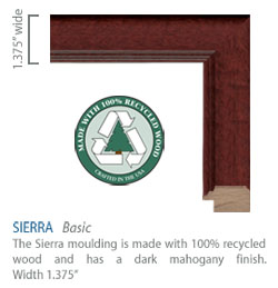 Sierra Moulding -  Mahogany finish