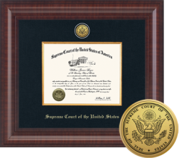 Supreme Court of the United States Certificate Frame