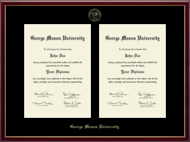 vertical double document double diploma frame