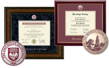 College and University Diploma Frames