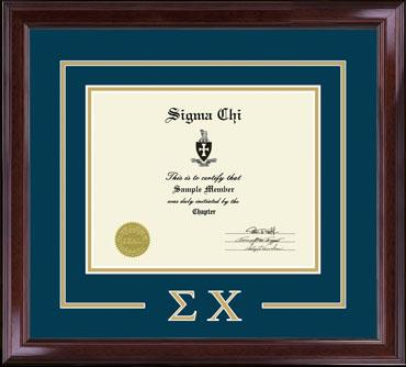 Greek Letters Certificate Frame - Sigma Chi