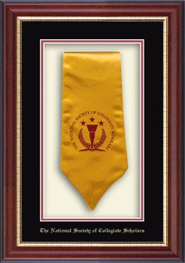 Commemorative Stole Shadowbox Frame - The National Society of Collegiate Scholars