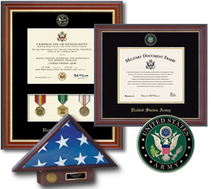 Military Frames and Gifts