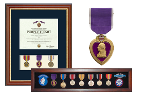 Purple Heart Medal and Award Frames