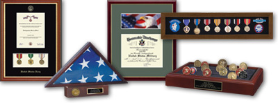 military display cases and specialty gifts - Military Picture Frames