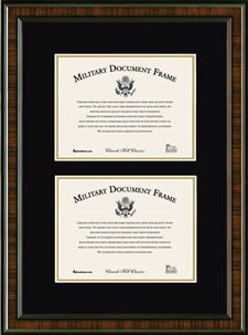 military double document frame - Military Picture Frames