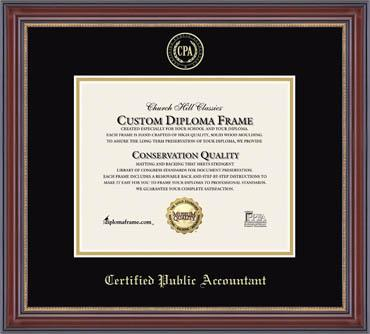 certificate license frames with profession logos