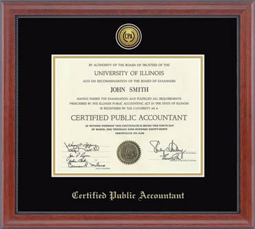 Professional Certification and License Frames - Church Hill Classics